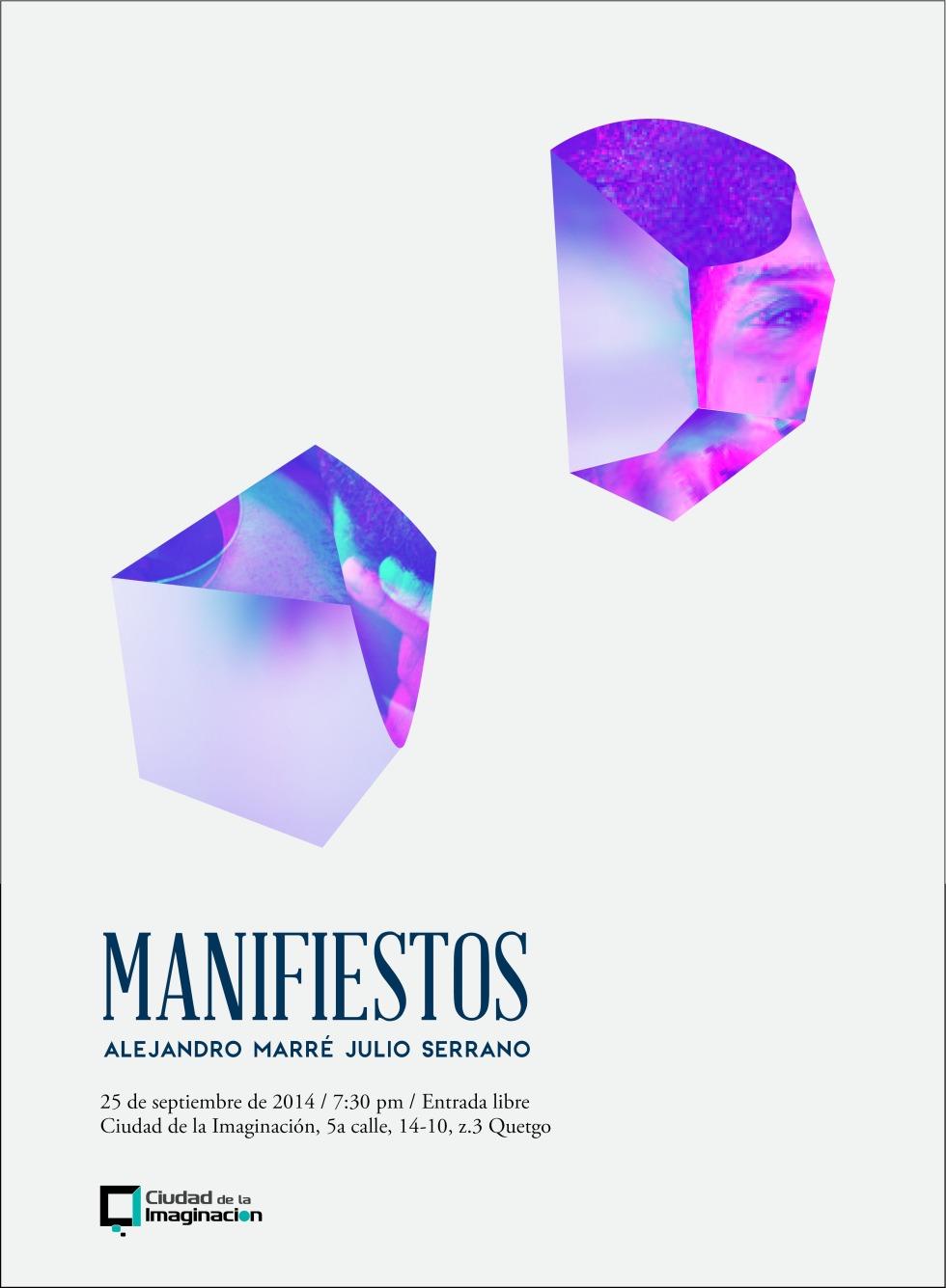 Manifiestos. Diseño de Santiago Lucas. Ciudad de la Imaginación. 2014