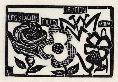 Emilia Prieto, Costa Rica. Dibujo para bordar (1936)